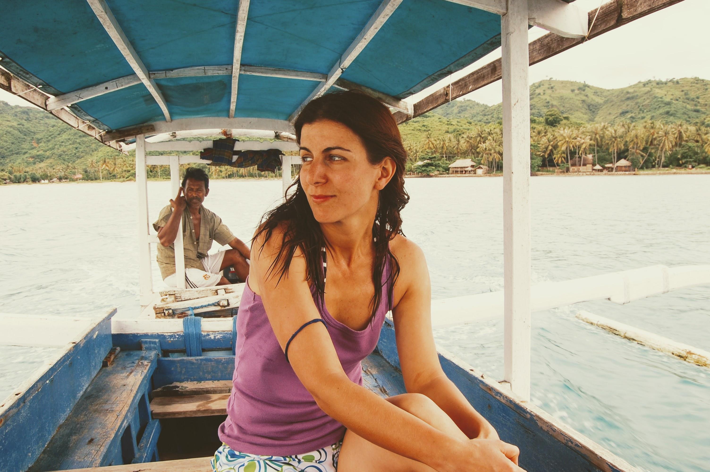лодка на Gili Nangu