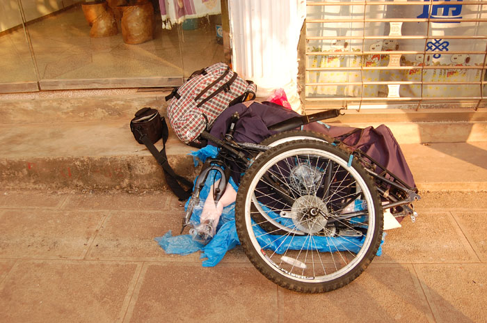 Разобранный велосипед Norco Mountaineer