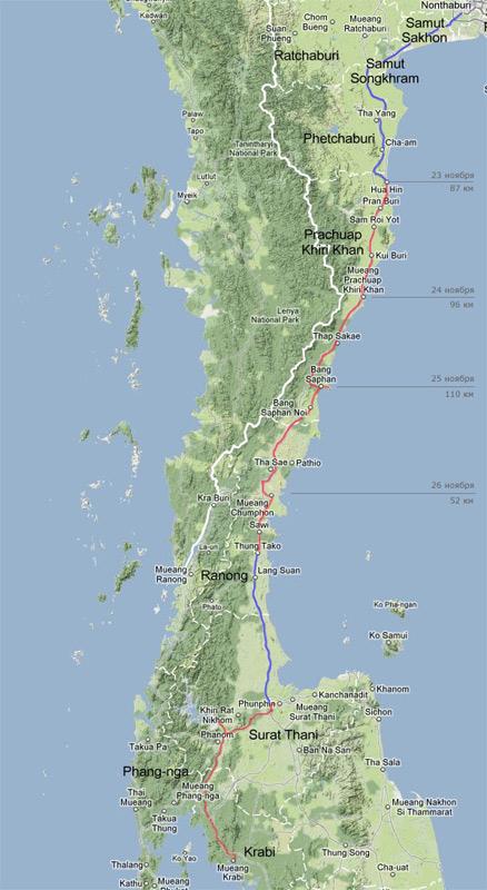 Первая неделя путешествия на велосипеде из Бангкока на юг Таиланда