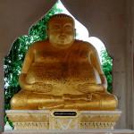 Будда-муж в храме в Банг Сафан Таиланд