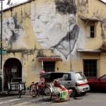 Графитти на стенах в Джорджтауне на Пенанге