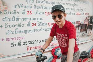 Петр готов к экспедиции по Лаосу