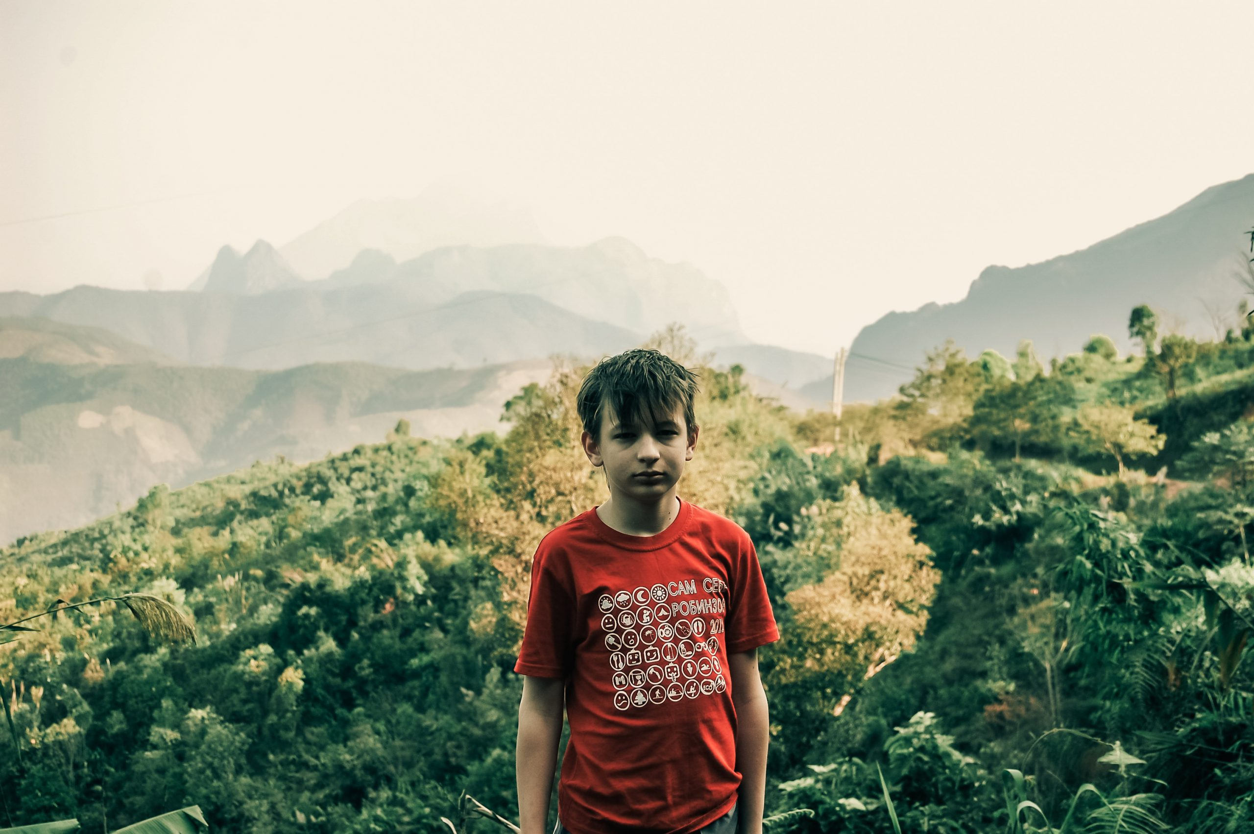 Петр в горах Северного Лаоса