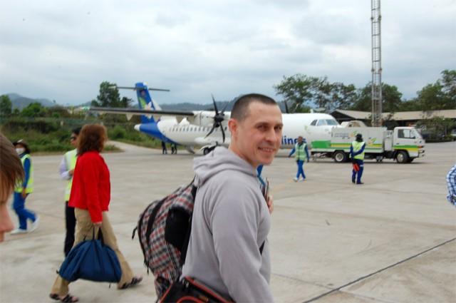 Приземлились в аэропорту Луанг-Прабанг