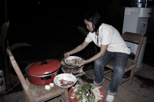 Ужин в Лаосе