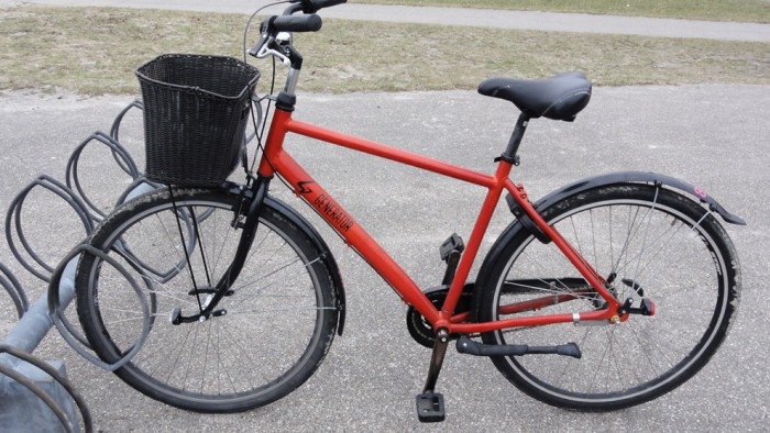 Велосипед городской. Взят напрокат в отеле Generator
