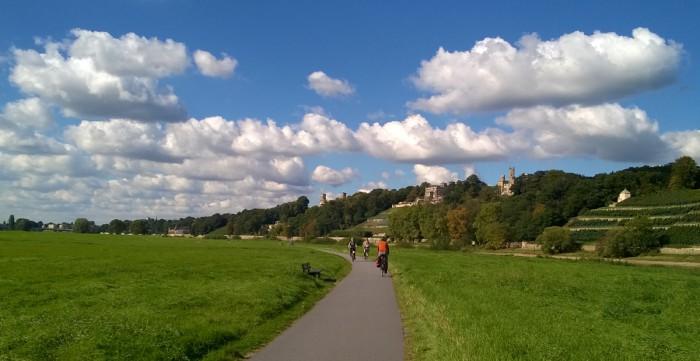 Велодорожка в пригороде Дрездена