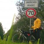 Доехал до большого города на юге Чехии Индржихув Градец