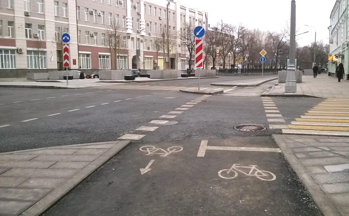 Велодорожка  на Неглинной