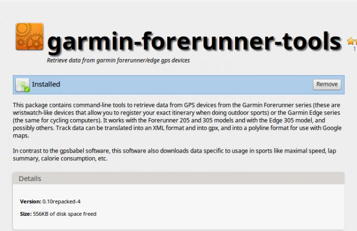 Утилита для подключения устройства Garmin Edge в линукс