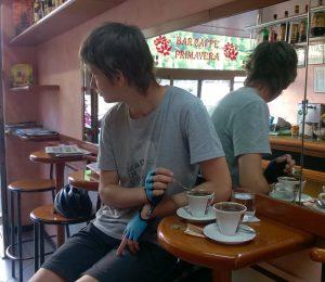 Кафе на границе Италии и Швейцарии