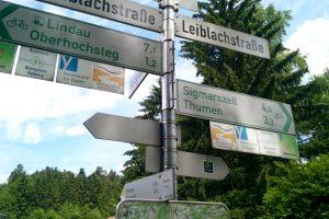 Указатели веломаршрутов в Германии