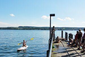 Озеро Констанц. Вода холодная, только дети купаются