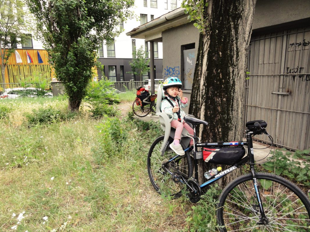 Велосипеды собирал на площадке напротив отеля