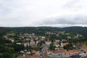Вранов на Дые - панорамный вид с крепости