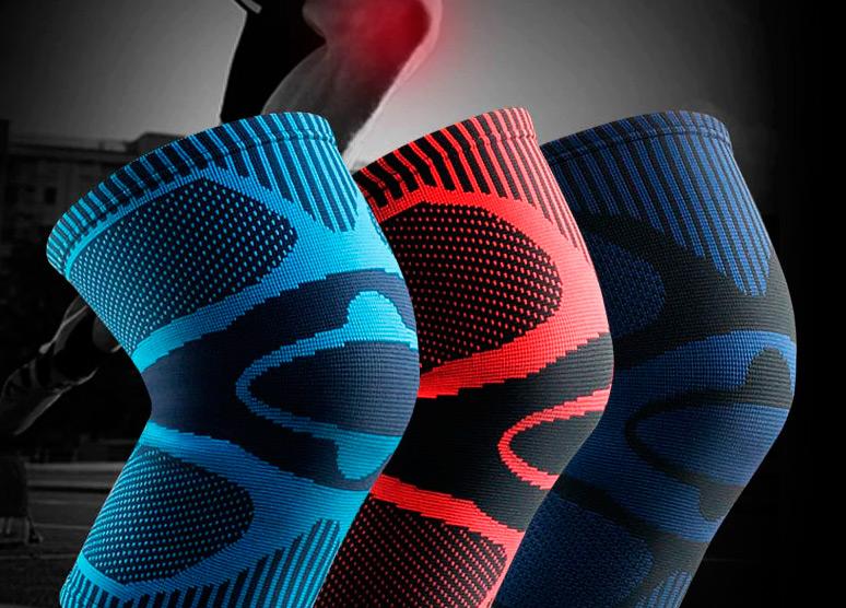 Компрессионные эластичные наколенники для велосипедиста