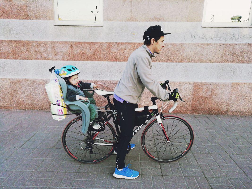 Съездили на велосипеде с ребенком в магазин за памперсами