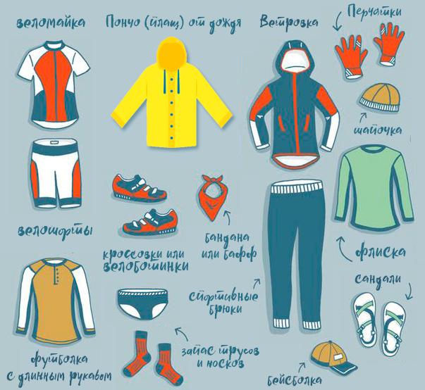 Минимальный набор одежды для велопохода