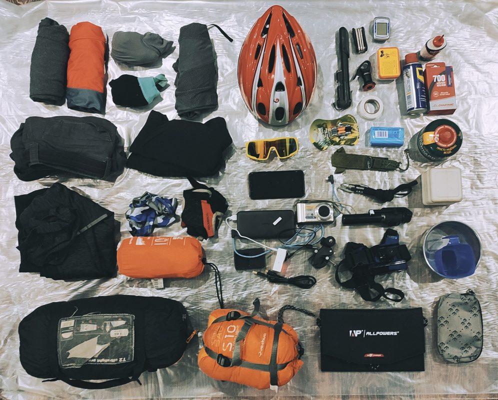 Набор снаряжения и вещей для двухнедельного велопутешествия по Уралу